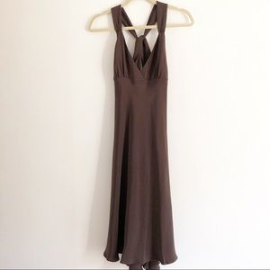 J Crew petite Avery brown silk dress. 4